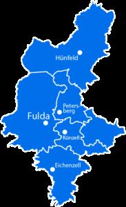 Fuldaer Land Karte